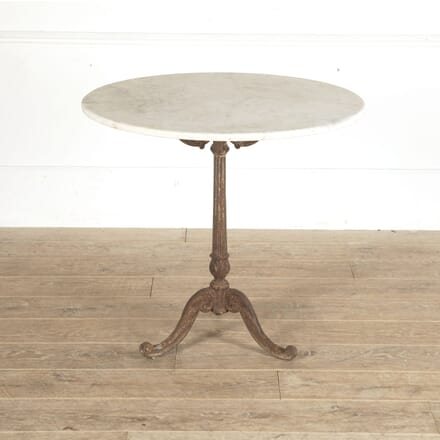 French 19th Century Round Marble Table with a Cast Iron Base DA4413361