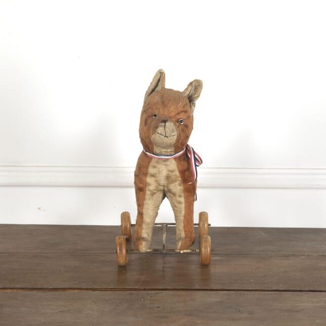 French Antique Toy Dog on Wheels DA1513022