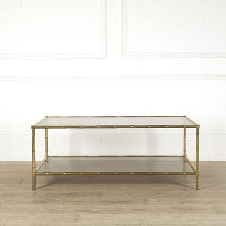 French Brass and Faux Bamboo Coffee Table CT4512397