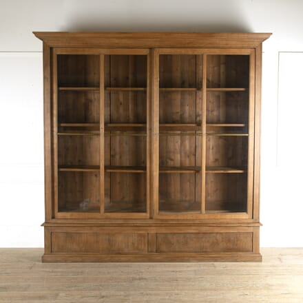 French Glazed Oak Bookcase BK4812749