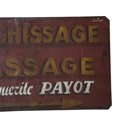 French Laundry And Ironing Trade Sign Lorfords Antiques