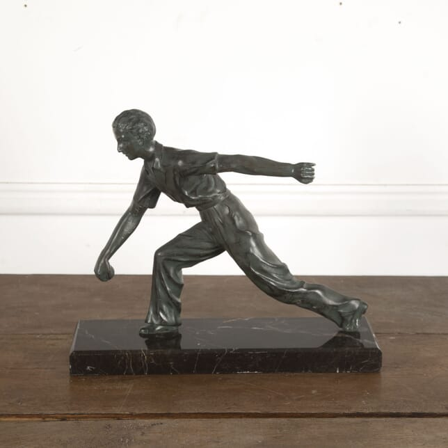 French Sculpture of a Boules Player DA1512986