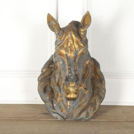 French Zinc Horse Head DA3513244