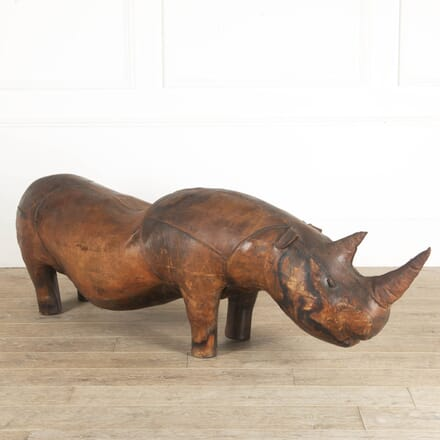 Giant Omersa Leather Rhino Footstool SB1112062