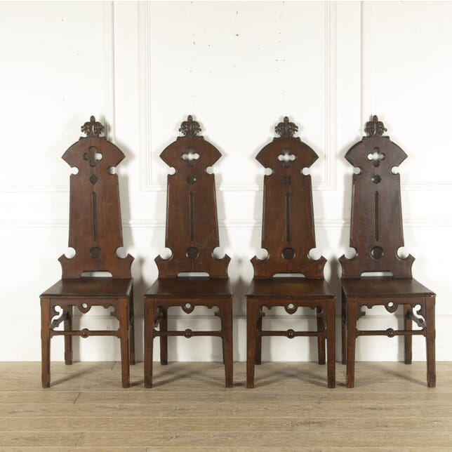 Gothic Oak Hall Chairs CD7812302