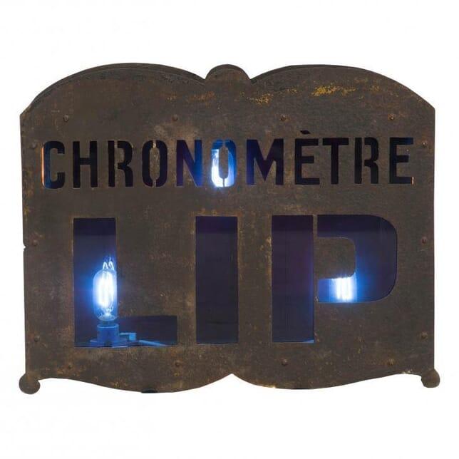 Illuminated French Watchmaker's Sign DA012392