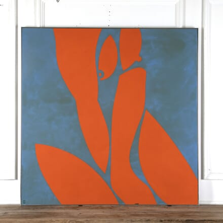 John Miles Large Abstract Nude Painting WD7813059