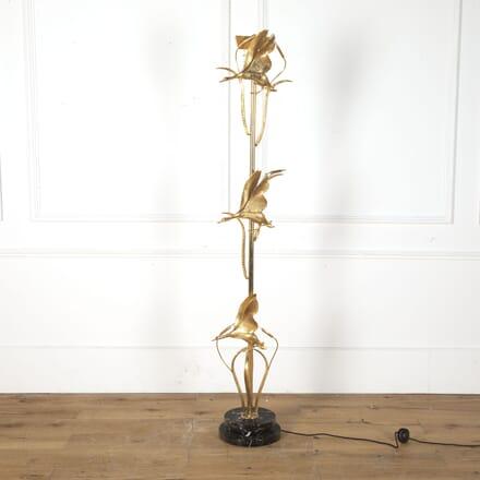 L Galeotti Swan Brass Floor Lamp LF7312454