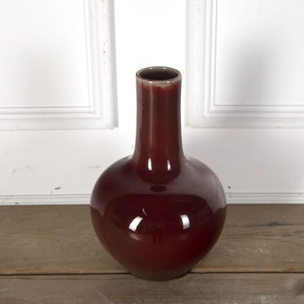 Large C19th Sang de Boeuf Glaze Chinese Bottle Vase DA9012770