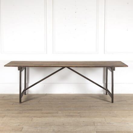 Large 19th Century English Trestle Table TD9013219