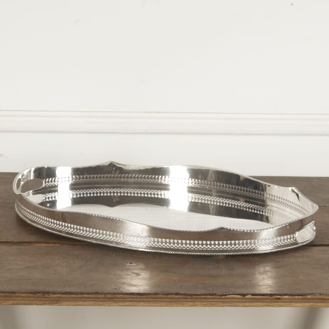 Large English Silverplate Serving Tray DA1513013