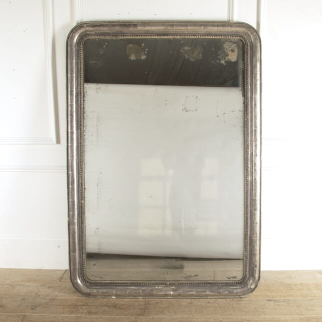 Large French Silver Gilt Mirror with Original Plate MI4812744
