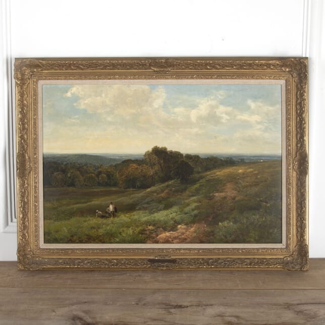 Large Oil Painting on Canvas of the Sussex Downs Signed Wimperis WD8812878