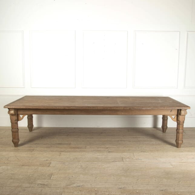 Large Victorian Gothic Pine Dining Table OF0912092