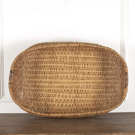 Large late C19th Swedish Folk Art Basket DA9013198