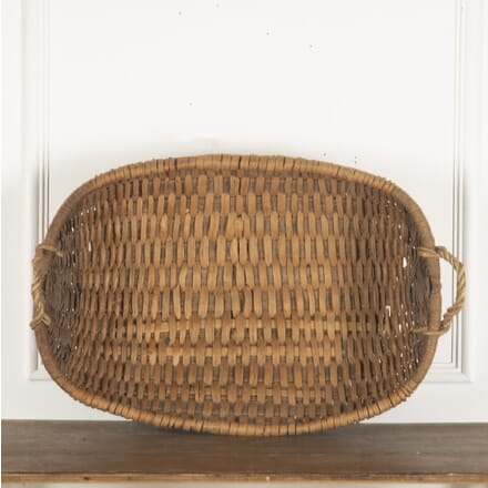 Large late C19th Swedish Folk Art Basket DA9013200