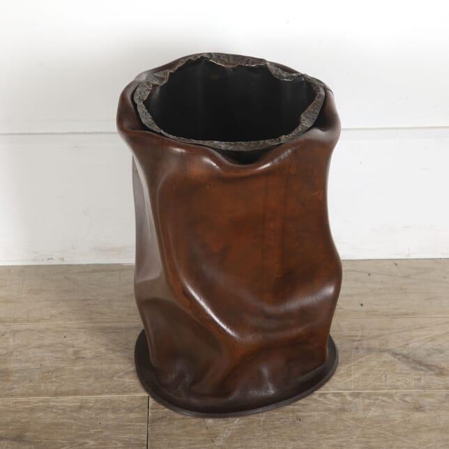 Leather and Copper Umbrella Holder DA3012790