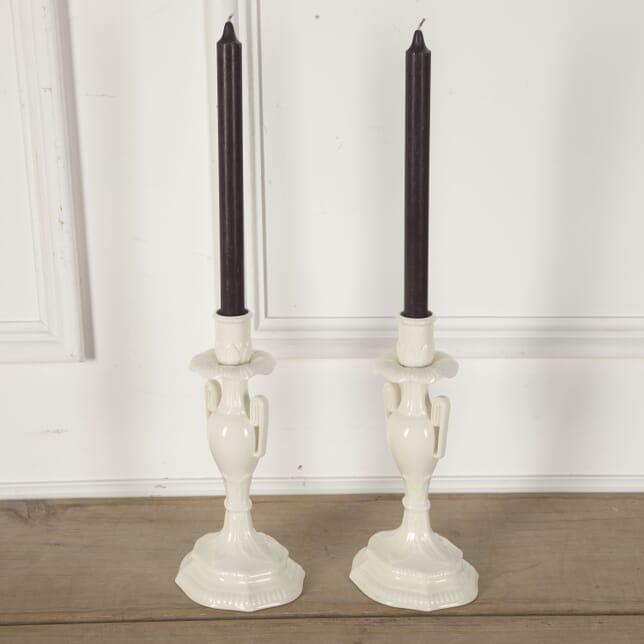 Leeds Creamware Urn Candlestick Holders DA5912088