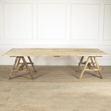 Lime Wood Trestle Table TS0212163