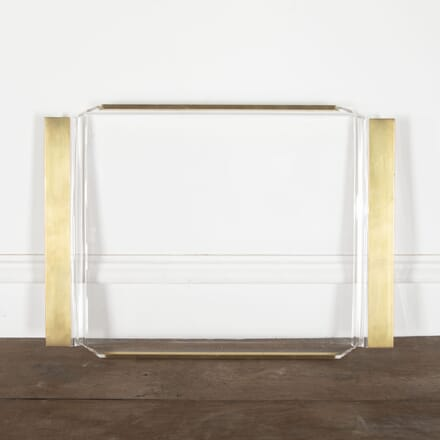 Lucite and Brass Cocktail Tray DA3013178
