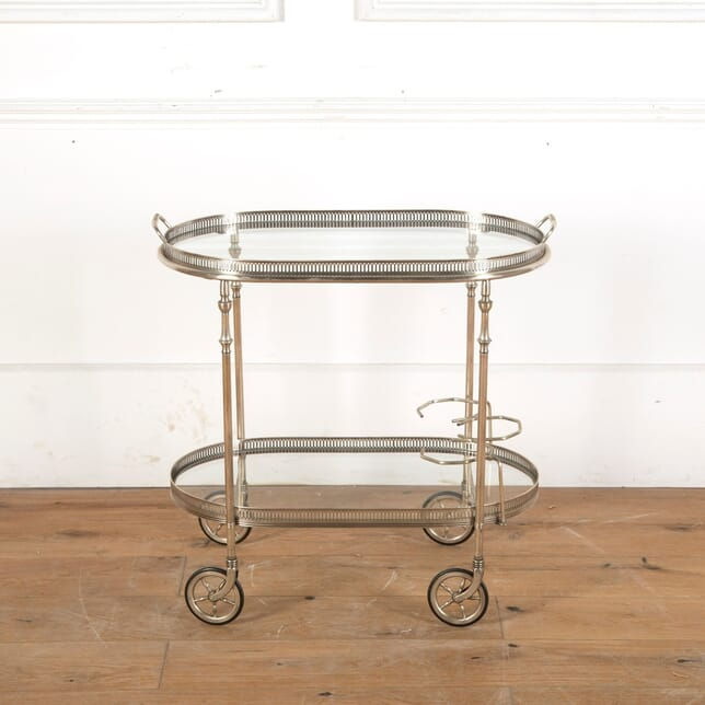 Mid Century Silver Plated Drinks Trolley TS9011641