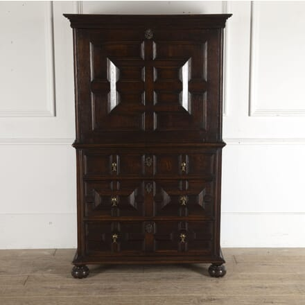 Oak Secretaire on Chest DB3512436