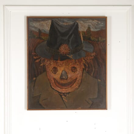 Oil on Board of a Scarecrow WD4312967