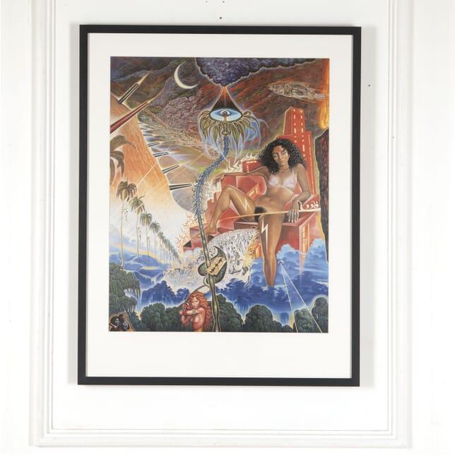 """Original Mati Klarwein """"D.M.Z."""" Poster WD7813054"""