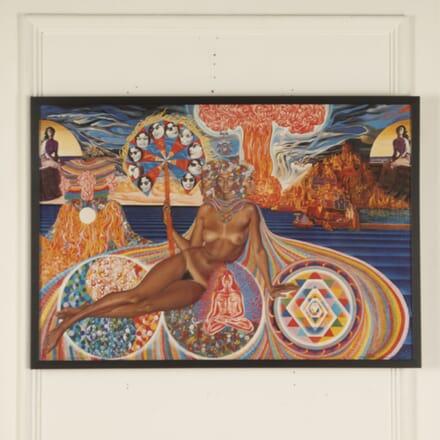 "Original Mati Klarwein ""Eve"" Poster 1976 WD7813053"