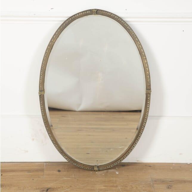 Oval Brass Framed Mirror MI3612468