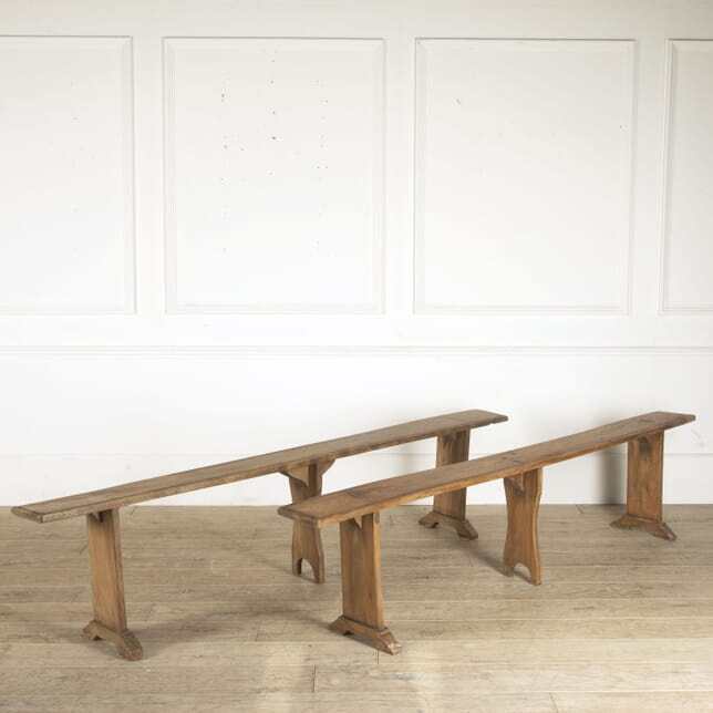 Pair Mid 19th Century French Elm Benches SB8812216