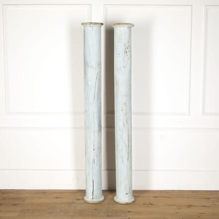 Pair of 18th Century French Painted Columns DA3713099