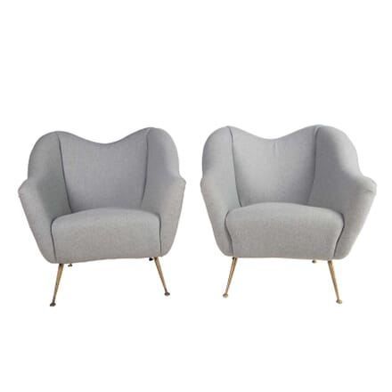 Pair of 1950s Italian Armchairs CH5756375