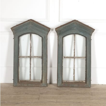 Pair of 19th Century French Cast Iron Windows GA4413353