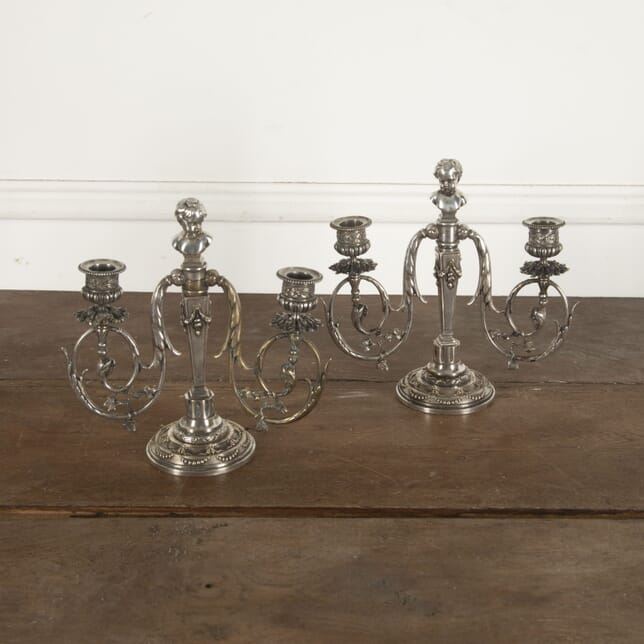 Pair of 19th Century Neoclassical Revival Candle Sticks DA1513010