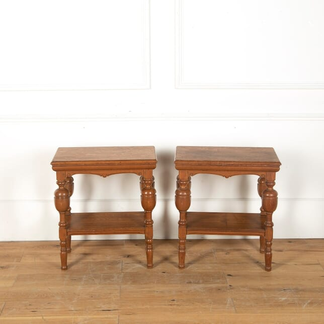 Pair of 19th Century Oak End Tables TC1011616