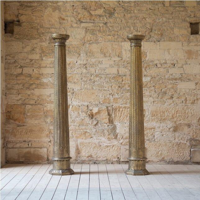 Pair of Architectural Brass Columns GA998955