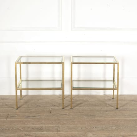Pair of Brass and Chrome Side Tables CO3013338