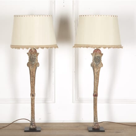 Pair of Cast Iron Decorative Lamps LF7313386