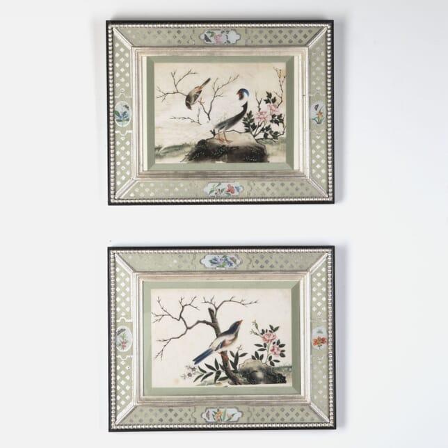 Pair of Chinese Ricepaper Paintings WD7613289