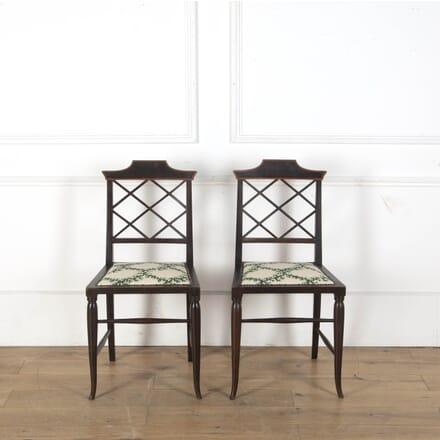 Pair of Chinoiserie Pagoda Chairs CD5912832
