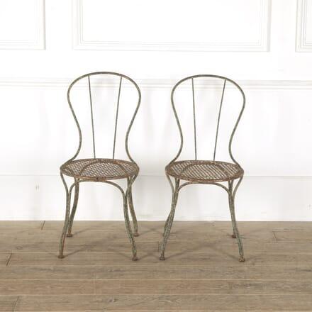 Pair of French 19th Century Iron Garden Chairs GA4412047