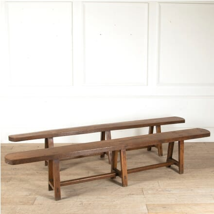 Pair of French Elm Wood Benches SB8811200
