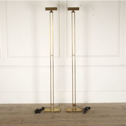 Pair of French Mid Century Brass Standing Lamps LF4512403