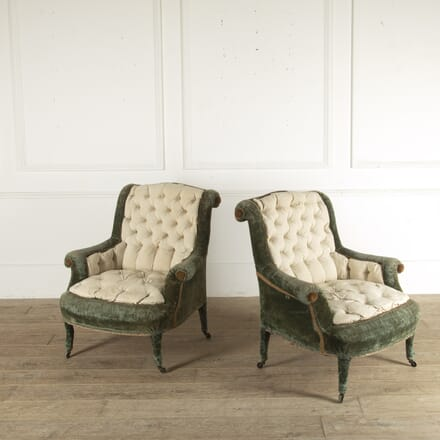 Pair of French Napoleon III Armchairs CH3512431