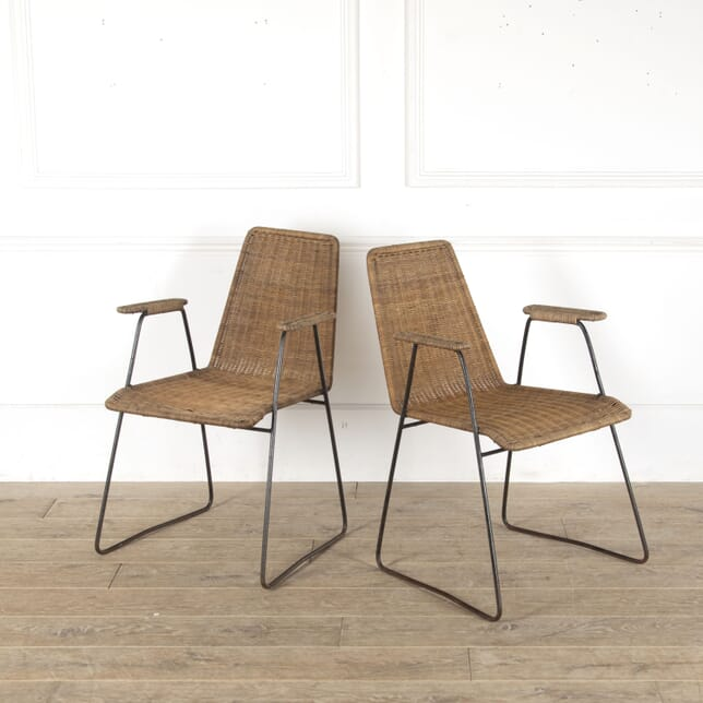 Pair of French Rattan Armchairs CH4312966
