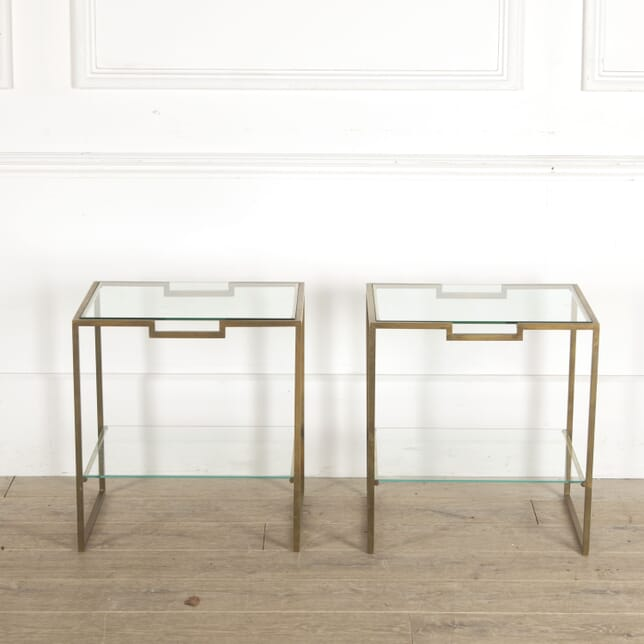 Pair of Geometric Side Tables CO3012782
