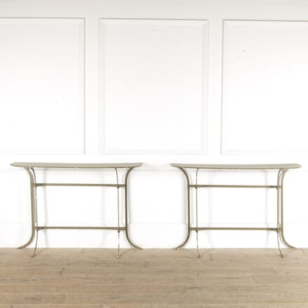 Pair of Industrial Painted Steel Console Tables CO7812297