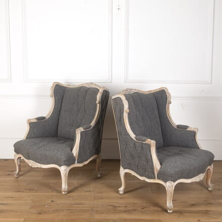Pair of Italian Upholstered Armchairs CH7313372