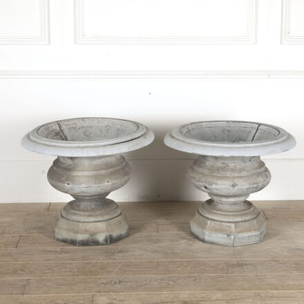Pair of Large 19th Century French Zinc Urns GA4412911
